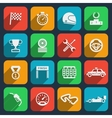 Car tools and car race icons vector image vector image