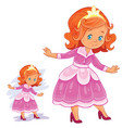 clip art with young girl in vector image vector image