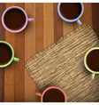colored cup coffee vector image