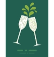 curly doodle shapes toasting wine glasses vector image vector image