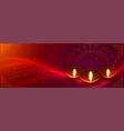 deepwali banner with diya decoration and light