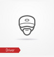 driver face icon vector image