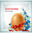 Easter banner vector image vector image