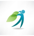 eco man abstraction icon vector image