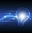 electric sparking lamp vector image