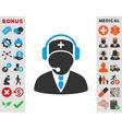 Emergency Operator Icon vector image vector image