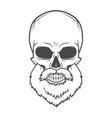 Evil Bearded Jolly Roger logo template Old biker vector image vector image