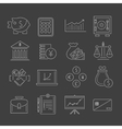 Finance icons set outline vector image