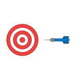 flat design style concept bullseye with dart vector image vector image