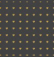 gold hearts pattern vector image vector image