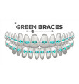 green child braces tooth and dental braces vector image vector image