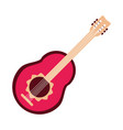 guitar instrument musical string element icon flat vector image