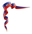 haiti flag on a white vector image vector image