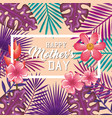 happy mothers day card with floral decoration vector image
