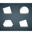 hidden paper cards set vector image