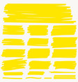 highlight marker yellow line color stroke vector image