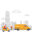 home delivery deliverys transports on the vector image