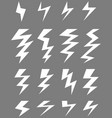 icons of thunder vector image vector image