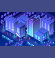 isometric ultra city concept vector image vector image