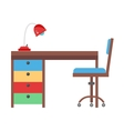 Kids workplace vector image