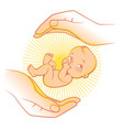 logo of baby care vector image