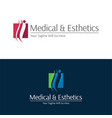 medical and esthetics logo and icon vector image