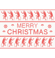 Merry Christmas Scandinavian style knitted pattern vector image vector image