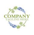 modern lupine flower logo vector image