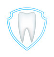 protection of the white tooth from decay and vector image