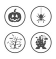 rounded halloween icons set icon design vector image