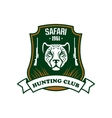 Safari hunting sport club sign vector image