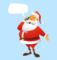 Santa Claus calls vector image vector image