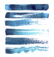 set blue navy brush strokes vector image vector image