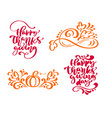 set of four calligraphy phrases text lettering vector image