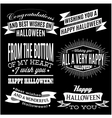 set of labels for Halloween holiday vector image vector image
