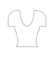 Shirt top icon vector image vector image