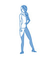 silhouette woman standing character image vector image vector image