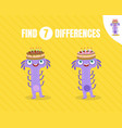 simple game find differences vector image vector image