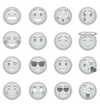 Smiles icons set monochrome style vector image vector image