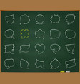 speech bubble chalk draw line icons set vector image vector image