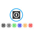 switch rounded icon vector image vector image