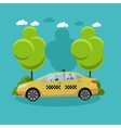 Taxi service company concept banner People vector image