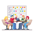 team working together on a big it startup business vector image