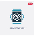 two color mobile development icon from vector image vector image