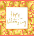 valentines day gold greeting card for instagram vector image