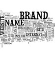 what can a brand name do for you text word cloud vector image vector image