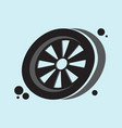 wheel icon eps 10 vector image