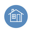 white home icon placed in blue circle vector image
