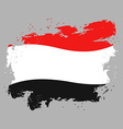Yemen flag grunge style on gray background Brush vector image vector image