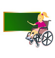 young people with disabilities at school- girl of vector image vector image